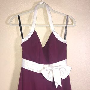 Alfred Angelo Berry Ivory Halter Dress size 2